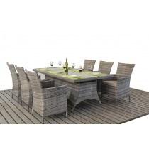 WGF Rustic Six Seater Rectangular Dining Set