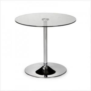 Julian Bowen Kudos Chrome Glass Pedestal Dining Table