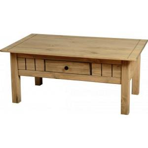 Seconique Panama 1 Drawer Coffee Table in Natural Wax-