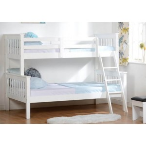 A2 Clearance - Seconique Neptune Triple Bunk Bed White-