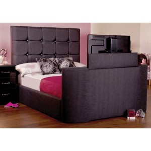 Jasmine TV Bed - Shown in Executive Midnight Fabric