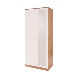 GFW Ottawa Mirrored 2 Door Wardrobe-