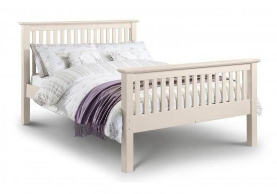 Julian Bowen Barcelona High Foot End Bed Frame In White-color White