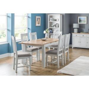 Julian Bowen Richmond Elephant Grey Table and 6 Chair Dining Set-
