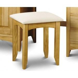 Julian Bowen Kendal Natural Solid Pine Dressing Table Stool