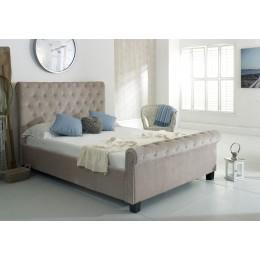 Flair Furnishings Lola Fabric Bed Mink