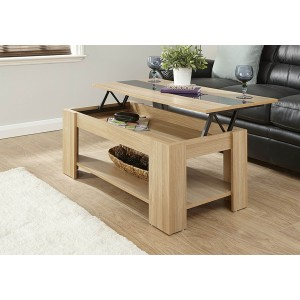 GFW Liftup Coffee Table High Gloss Strip-