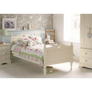 Little Folks Furniture Fargo Single Bed Frame with carved heart-