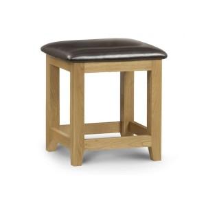 Julian Bowen Marlborough Oak Dressing Stool-