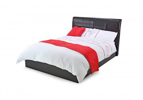 Metal Beds Texas Faux Leather Bed-