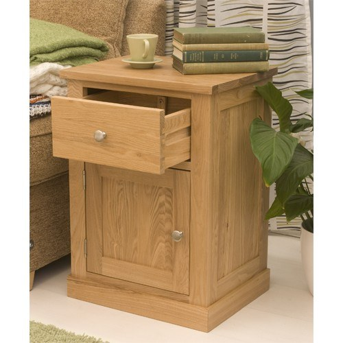 baumhaus mobel oak one door one drawer lamp table loading product options