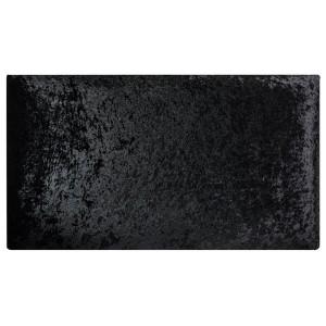 Algiers Headboard - Shown in Crushed Velvet Onyx