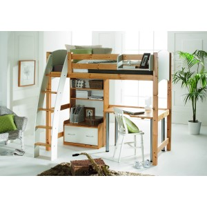 Scallywag Highsleeper with Storage Unit and Desk-