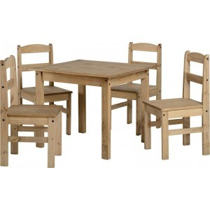 Seconique Panama Dining Set in Natural Wax-