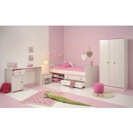Parisot Smoozy Pink or Blue Compact Bed Frame