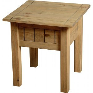 Seconique Panama Lamp Table in Natural Wax-