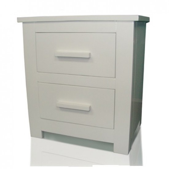 Flintshire Buckley White Finish Bedside Cabinet-color White