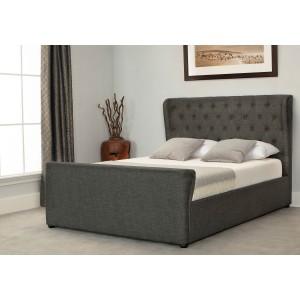 Emporia Beds Manhattan Ottoman Bed In Grey-