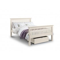 Julian Bowen Barcelona High Foot End Bed Frame In White