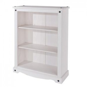 Core Products Corona White Low Bookcase
