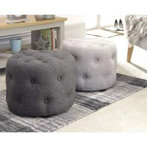 GFW Rotunda Circular Buttoned Small Pouffe-