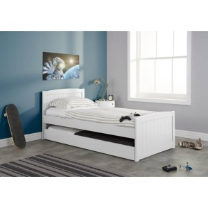 Birlea Beckton White Guest Bed Frame-