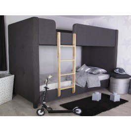Flair Furnishings Frankie Charcoal Fabric Bunk Bed