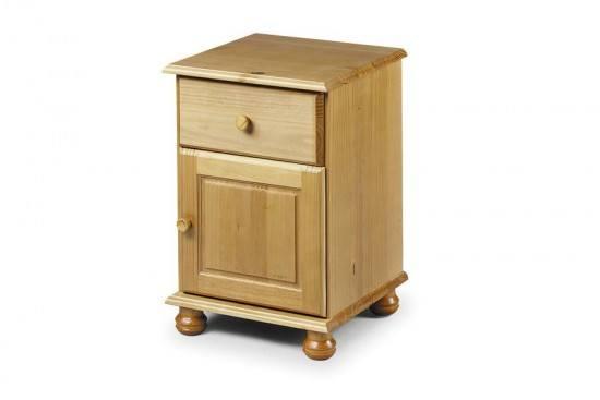Julian Bowen Pickwick 1 Drawer Bedside Cabinet-