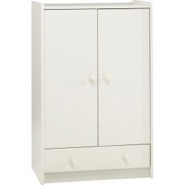 Steens For Kids 2 Door 1 Drawer Low Wardrobe