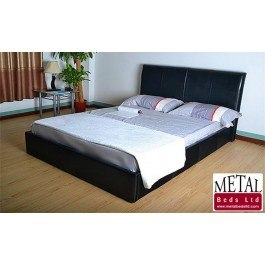 Metal Beds Texas Faux Leather Bed