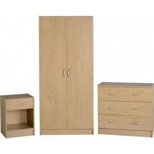 Seconique Bellingham Bedroom Set in Oak -