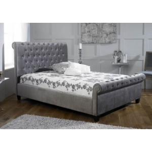 Limelight Orbit Fabric Bed Frame in Silver -