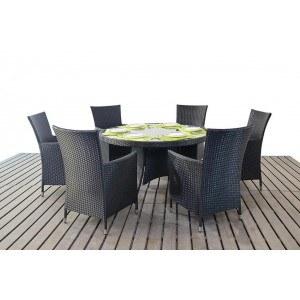 WGF Six Seater Round Dining Set
