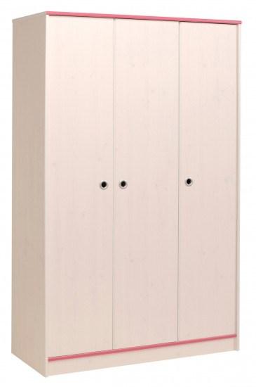 Parisot Smoozy Pink or Blue 3 Door Wardrobe