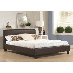 TIME LIVING HAMBURG FAUX LEATHER BED FRAME-