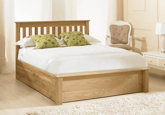 Emporia Beds Monaco Solid Oak Ottoman -color Oak