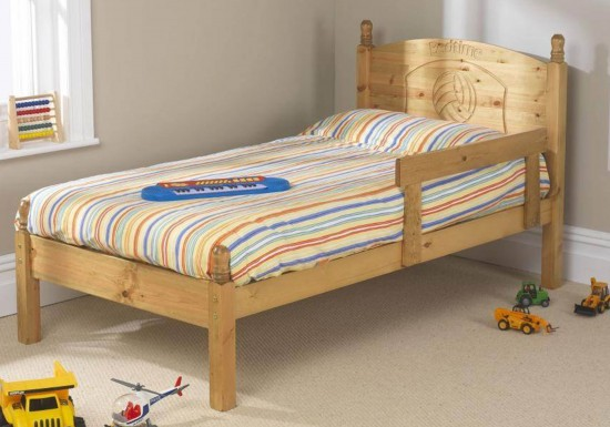 Friendship Mill Football Wooden Bed Frame-color Pine