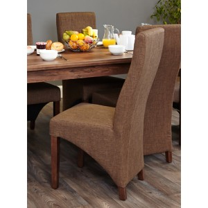 Baumhaus Full Back Upholstered Dining Chair (PACK OF TWO)