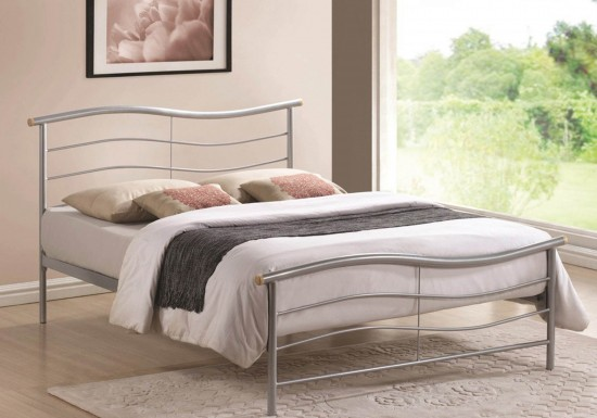 Time Living Waverley Metal Bed Frame-color Silver