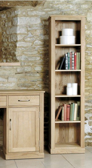 Baumhaus Mobel Oak Narrow Bookcase-color Oak