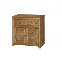 Core Product Hacienda Petite Side Board, 2 Door, 1 Drawer -