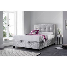Kaydian Walkworth Fabric Ottoman Bed Frame in Silver