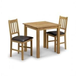 Julian Bowen Coxmoor Oak Square Dining Table Only-