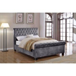Flair Furnishings Lola Fabric Bed Silver