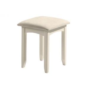 Julian Bowen Cameo Stone White Dressing Stool-