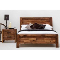 Sleep Design Chester Rustic Solid Wooden Bed Frame
