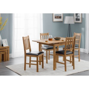 Julian Bowen Coxmoor Dining Set With Extending Table & 4 Chairs -