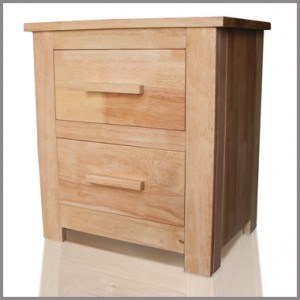 Flintshire Hardwood / Oak Finish Bedside Cabinets