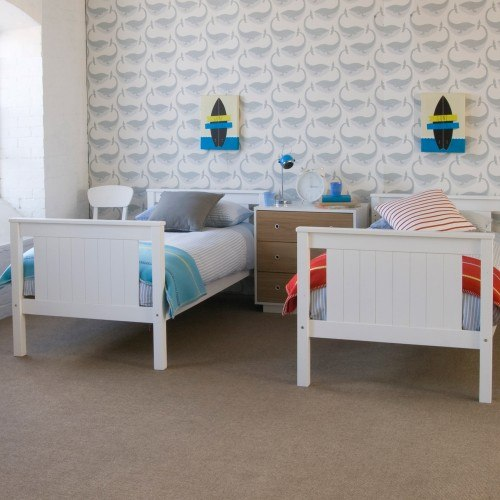 Little Folks Furniture Classic Beech Bunk Bed In White
