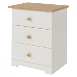 Core Products Colorado 3 Drawer Bedside Cabinet
